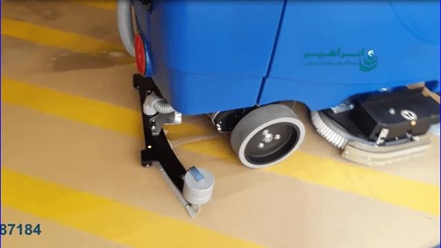 شستشوی سطوح شامل سنگ و اپوکسی با دستگاه اسکرابر خودرویی  - Wash surfaces including rock and epoxy with a scrubbing machine
