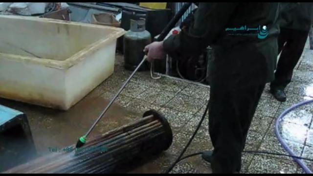 شستشوی تاسیسات موتورخانه در هتل ها با واترجت صنعتی  - cleaning equipment in hotels