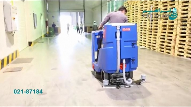 اسکرابر مناسب شستشوی سطوح کف مراکز تولید   - scrubber for production areas
