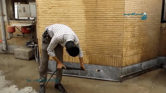 شست و شوی دیوارهای بتنی با واترجت صنعتی  - cleaning brick walls by industrial pressure washer