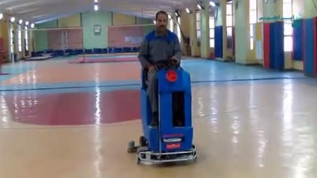 شستشوی کف سالن های ورزشی با اسکرابر  - title 196