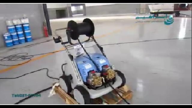 شستشوی بدنه هواپیما با استفاده از واترجت  - Plane Wash by High Pressure Washer