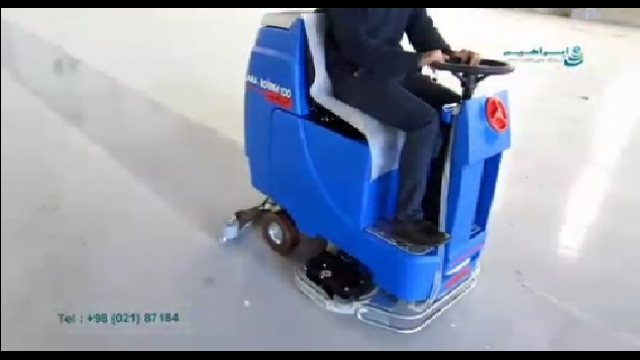 نظافت سطوح با اسکرابر خودرویی  - Cleaning Surface by Ride on Scrubber