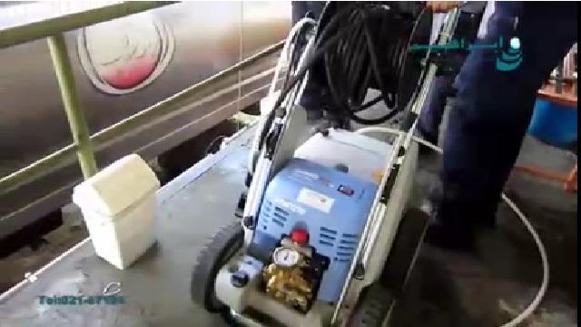 شستشوی تانکر حمل شیر با واترجت آب سرد  - Wash Milk Truck by Pressure Washer