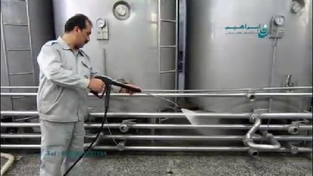 نظافت صنایع غذایی با واترجت آب گرم   - Food Industry Hot Pressure Washer