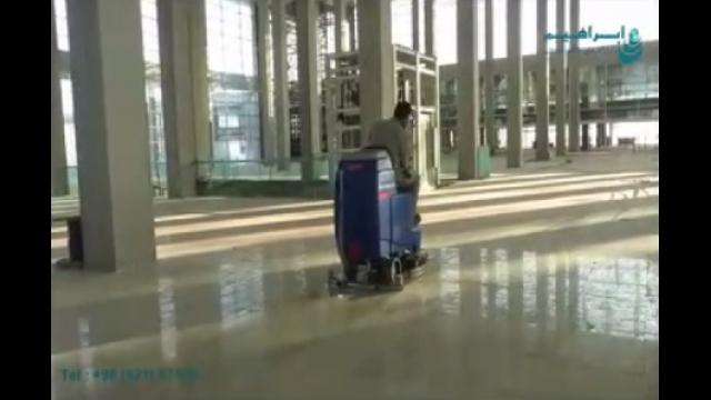 بکارگیری اسکرابر خودرویی در ساختمان های تجاری  - Use of ride-on scrubber in commercial buildings