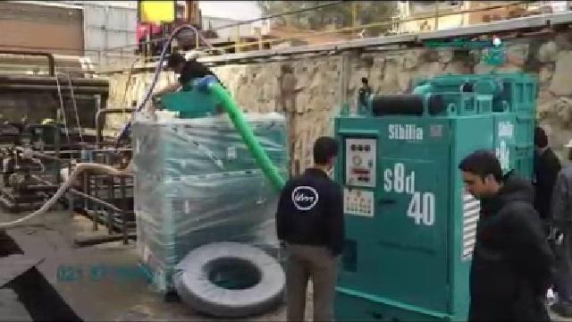 مکش آلودگی نفتی با مکنده صنعتی  - Industrial Vacuum Suction Oil Pollution