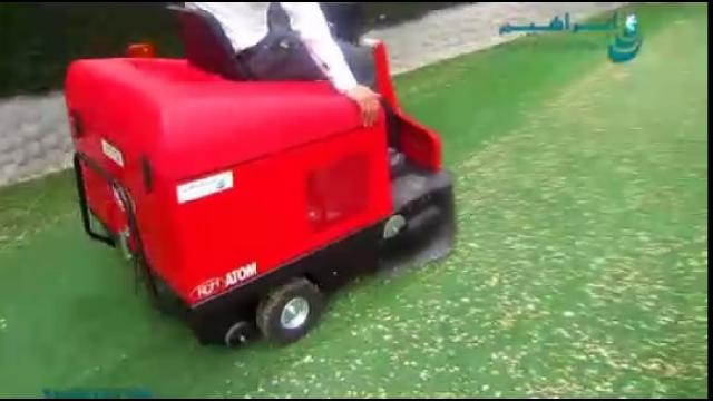 استفاده از سوییپر صنعتی جهت نظافت فضای سبز  - use of industrial sweeper for cleaning green space
