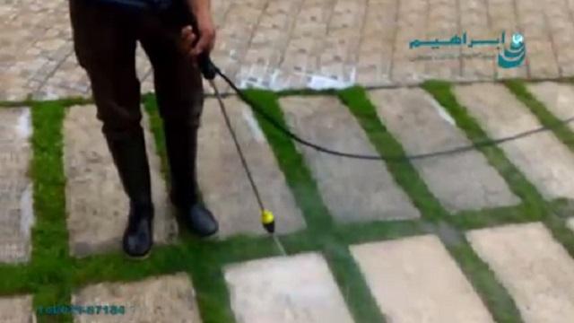 کاربرد واترجت در شستشوی سطح زمین   - application of high pressure washer in cleaning the floor