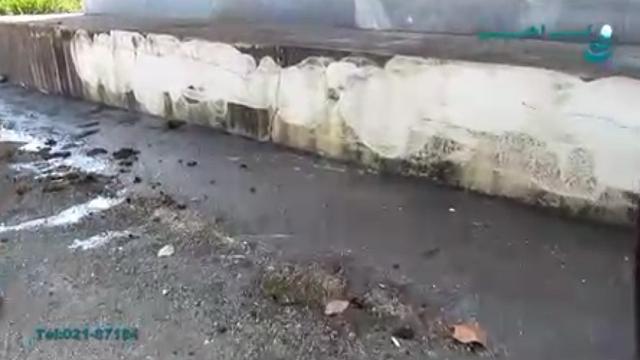 نظافت آلودگی های سطوح بتنی با جت واتر  - Cleaning contamination concrete surfaces