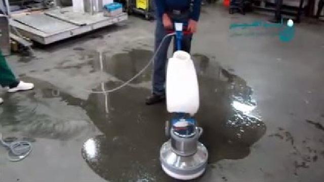 استفاده از پولیشر برای کفسابی  - Use polisher floor cleaning