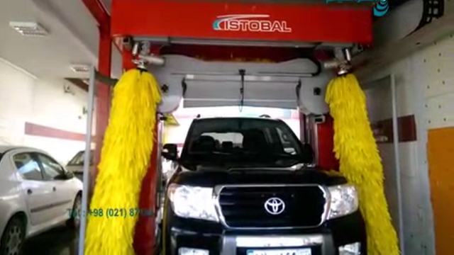 مراحل شستشوی خودرو بوسیله دستگاه کارواش تمام اتوماتیک  - Different parts of washing car with automatic carwash