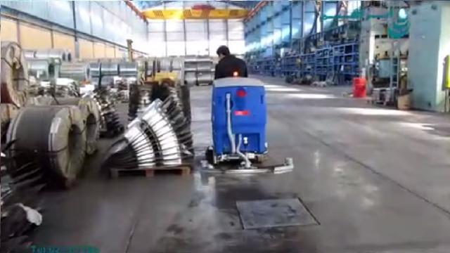 شستشوی محیط داخلی و محوطه بیرونی انبار با اسکرابر  - cleaning indoor and outdoor warehouse with scrubber