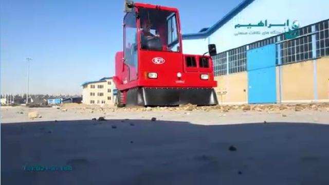 جمع آوری آلودگی محوطه کارخانه و انبار با سوییپر  - Dust collection plant area and warehouse sweeper