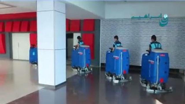 اسکرابر خودرویی در نظافت ساختمان طبقاتی  - Auto Scrubber Cleaning Multi-storey