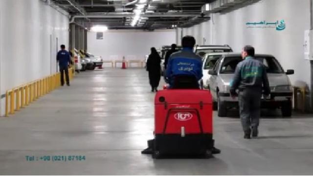 نظافت پارکینگ ها با سوییپر  - Parking Cleaning with Sweeper