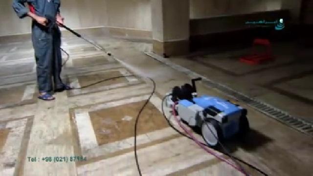 نظافت پارکینگ با واترجت  - Cleaning Parking with Pressure Washer