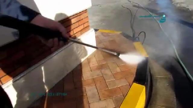 نماشویی با واترجت  - Facade Cleaning by Pressure Washer