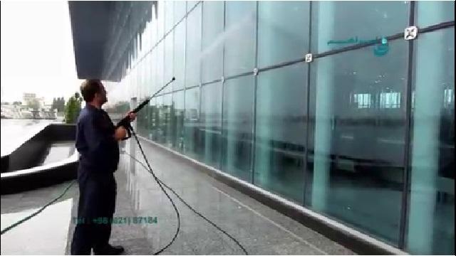 شستشوی نما با واترجت  - Facade Cleaning with Pressure Washer