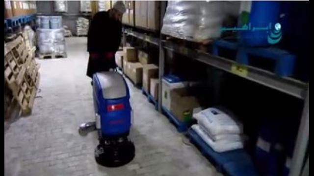 شستشوی انبار با استفاده از اسکرابر  - Cleaning Depot scrubbers