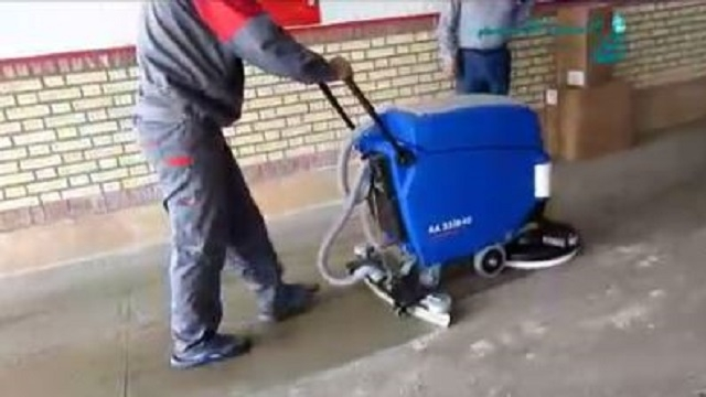 اسکرابر در نظافت کارگاه  - Scrubber cleaning workshop