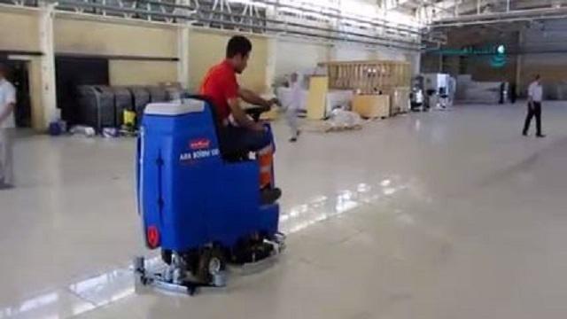 اسکرابر سرنشین دار و شستشوی سریع سالن های بزرگ  - Scrubber quick wash large hall