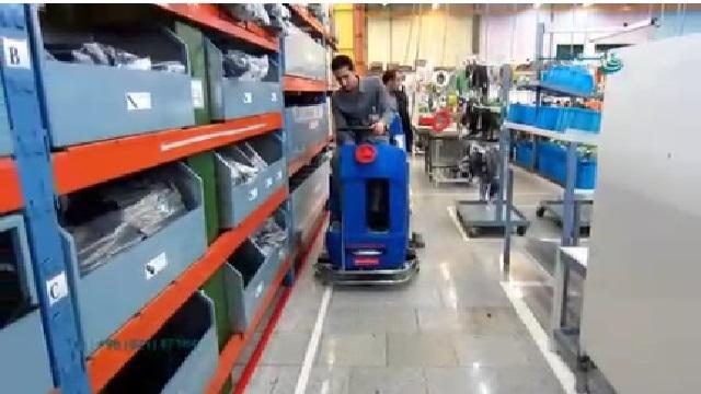 نظافت صنعتی با اسکرابر  - Industrial Cleaning by Scrubber