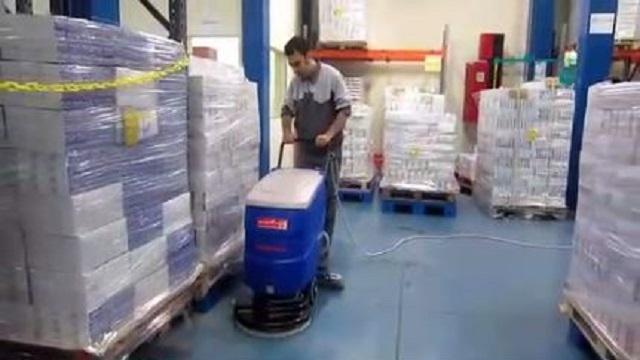 اسکرابر دستی برای نظافت سریع انبار  - Hand Scrubber quick cleaning warehouse