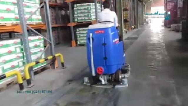 شستشوی انبار با اسکرابر  - Washing cellar with scrubbers