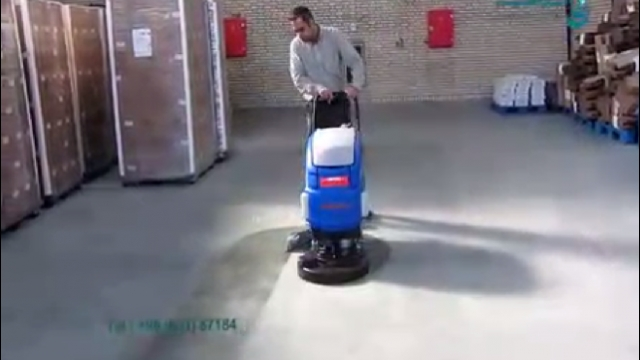 حذف گرد و خاک سطح زمین با اسکرابر  - Remove dust the surface with scrubber