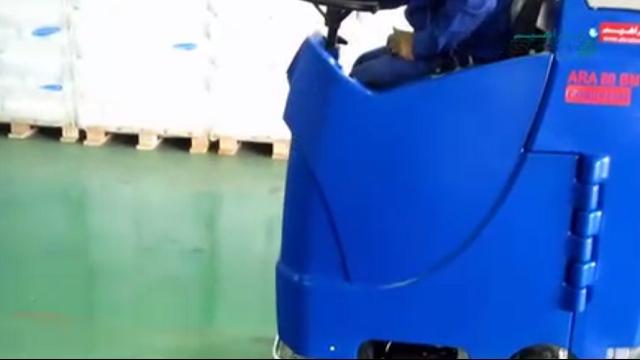 شستشوی سوله با اسکرابر صنعتی  - Warehouse washing with industrial scrubbers