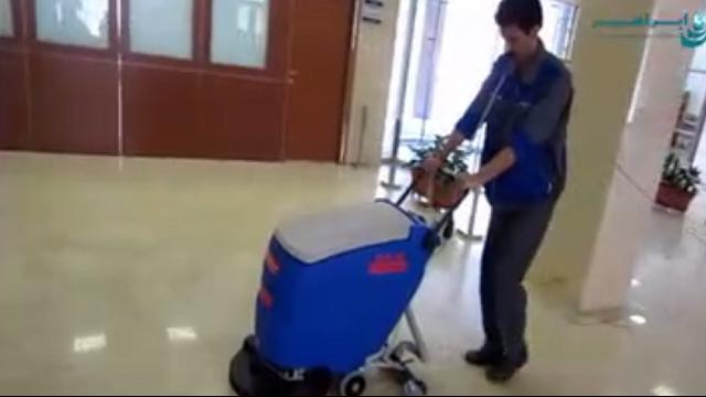 شستشوی سرامیک با اسکرابر   - Ceramic cleaning with scrubber