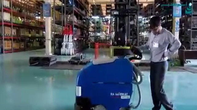 سهولت کاربری دستگاه اسکرابر  - Ease of using a scrubber