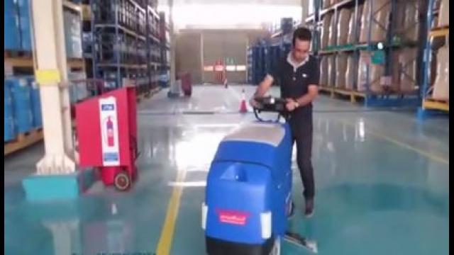 شستشوی اپوکسی کف کارخانه ها با اسکرابر  - Wash floor Epoxy scrubber