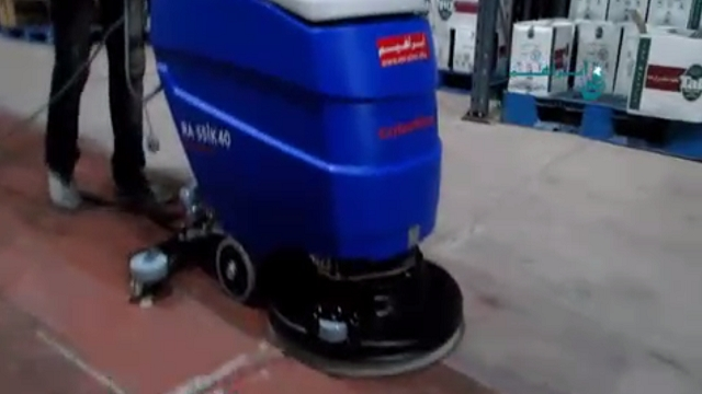 شستشوی انبار کارخانه ها به وسیله اسکرابر  - Wash Warehouse in factories with scrubbers