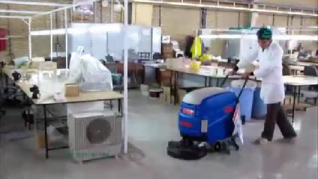 نظافت کارگاه صنعتی با اسکرابر  - Cleaning industrial plants with scrubbers