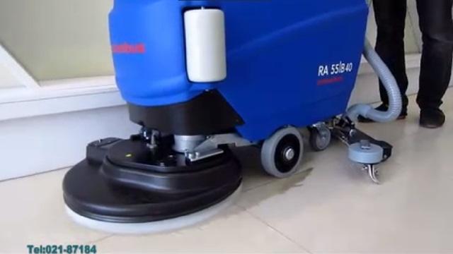 تمیزی و زیبایی کف با بکارگیری دستگاه اسکرابر  - Cleanliness and beauty of the floor using a scrubber