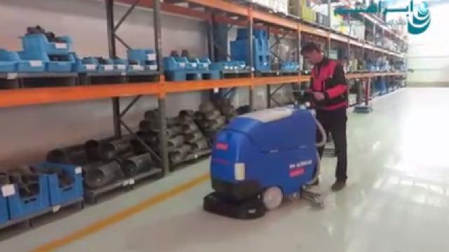 نظافت کفپوش انبار با اسکرابر  - warehouse flooe cleaning with scrubbers