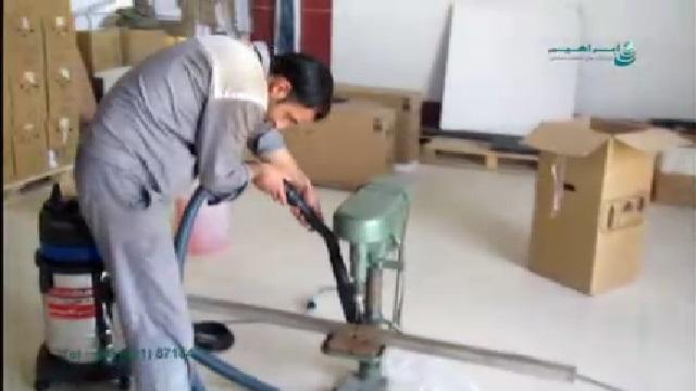 جمع آوری براده آهن با جاروبرقی  - Collect iron filings with vacuum cleaner