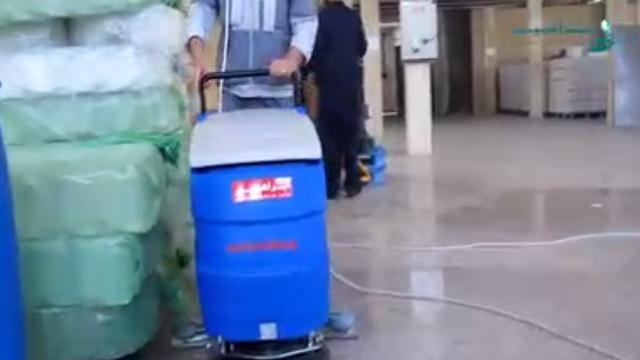 شستشوی موزاییک با اسکرابر کابلی  - Wash mosaic with cable scrubber