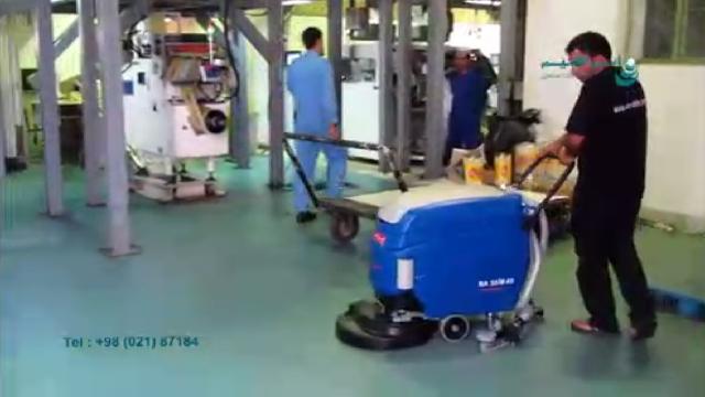 نظافت کف خط تولید کارخانه ها با اسکرابر  - Floor-cleaning factory production line scrubbers