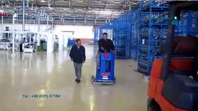 شستشوی کف سوله ها و سالن های صنعتی با اسکرابر  - Washing floor of the industrial halls with scrubber