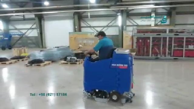 شستشوی انبار با اسکرابر خودرویی  - washing warehouse with ride on scrubber