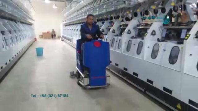اسکرابر سرنشین دار برای سالن تولید کارخانه ها  - ride on scrubber for factory production halls