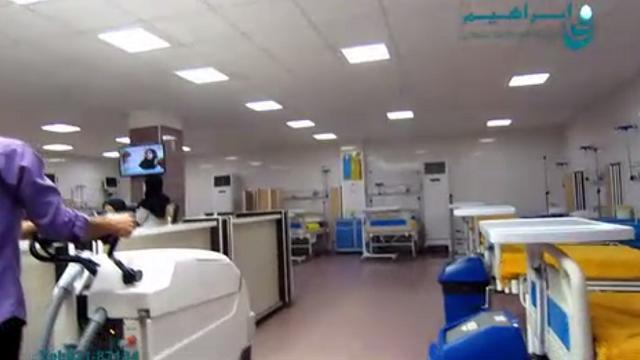 شستشوی بخش داخلی بیمارستان با استفاده از اسکرابر  - Wash different part of the hospital using a scrubber