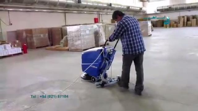 شستشوی سطوح بتنی با اسکرابر  - cleaning concrete surfaces with scrubbers