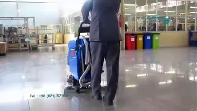 نظافت سطوح گرانیتی با اسکرابر  - Cleaning Granite Floor with Scrubber