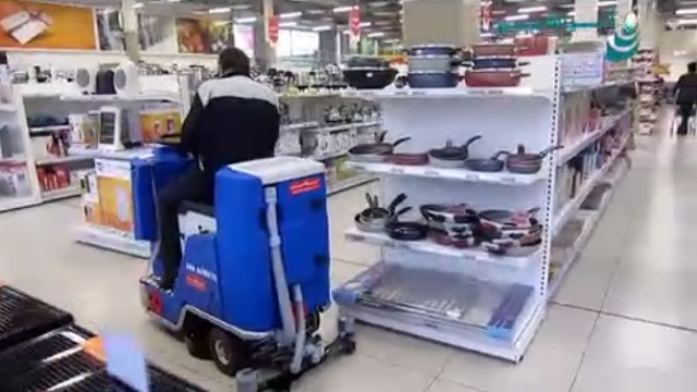 کفشوی هایپر مارکت  - cleaning the hypermarket - scrubber dryer