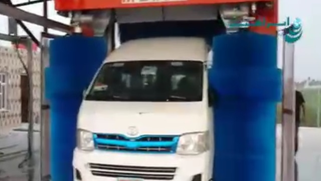 شستشوی ون توسط کارواش اتوماتیک دروازه ایی  - Car Washes Van by Automatic Rollover