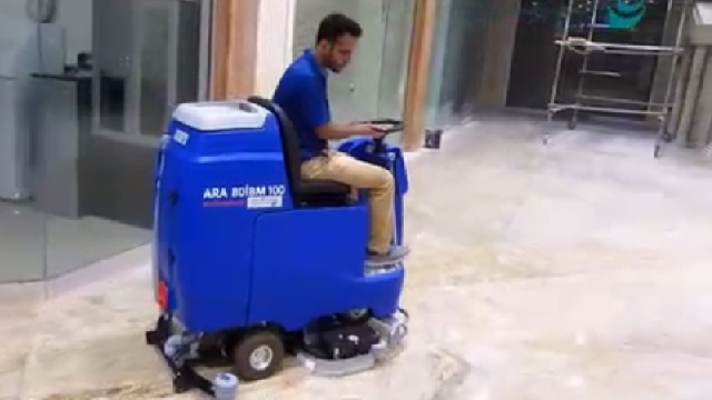 نظافت مجتمع با اسکرابر  - Building cleaning scrubber